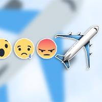 Cách thả biểu tượng cảm xúc máy bay trên Facebook