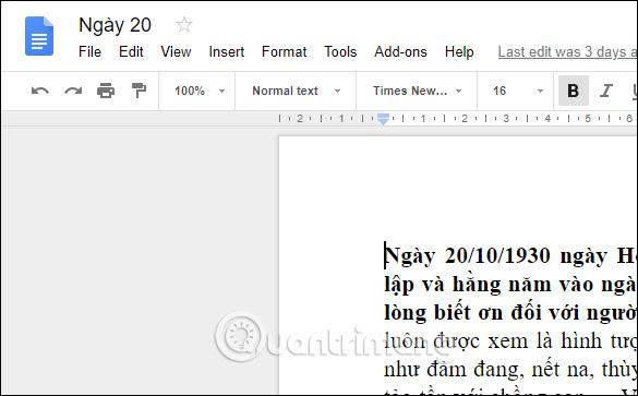 Cách đổi ngôn ngữ giao diện Google Sheets