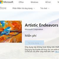 Artistic Endeavors, theme chính chủ từ Microsoft, mời tải về và trải nghiệm