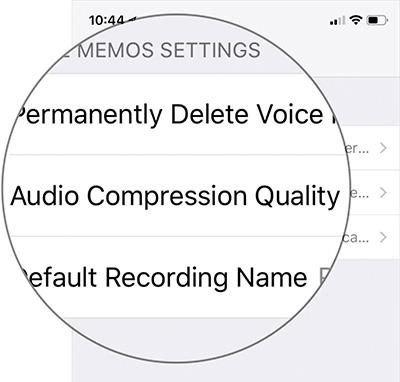 Chọn Audio Compression Quality
