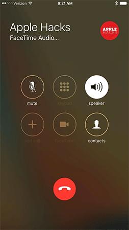 Loa ngoài bật tự động trên FaceTime